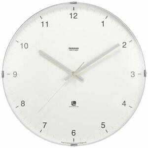 Lemnos North Clock White T1-0117 WH Wall Clock Japan