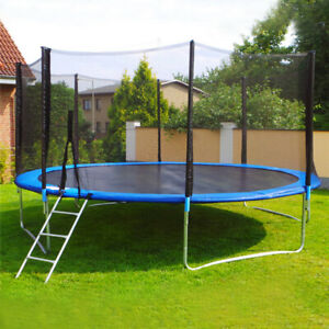 Trampolines Foot Round Outdoor Trampoline with Enclosure WSpring Pad Ladder 12