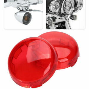 Lot2 Turn Signal Light Red Lens Cover for Harley  Electra Glide Sport