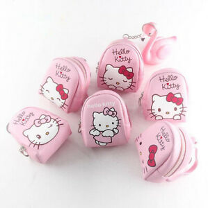 Cute Hello Kitty Mini Backpack With Straps Keychain Coin Purse Keyring Girl Gift