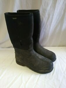 Bogs Rubber Black Boots Mens Size 12 Used Work Boot 1A