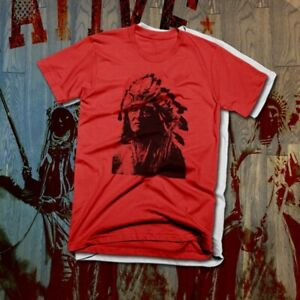 Native American Indian Warrior T-shirt Indigenous Feather Headdress Tribal Land