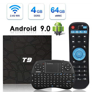 Android TV Box HAOSIHD T9 Android 9.0 TV Box with Remote Control