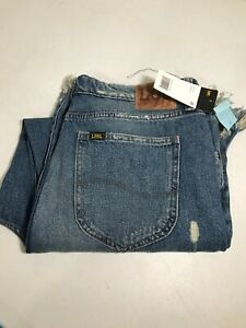 Women's NWT Distressed Lee High Waist Crop Jeans-Size 33in