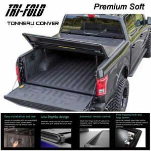 Fits 2007-2019 TUNDRA CREW MAX Lock Soft Tri-Fold Tonneau Cover 5.5ft Short Bed