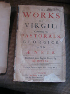 THE WORKS OF VIRGIL Antique Book