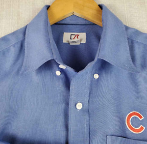 CHICAGO CUBS CUTTER & BUCK LARGE Mens Embroidered Button Down Shirt Long Sleeve