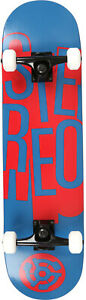 Stereo Stacked Skateboard Complete Sz 8.125in Blue
