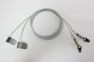 2005-2012 Ford Mustang Convertible Top Side Hold Down Tension Cables - Pair NEW