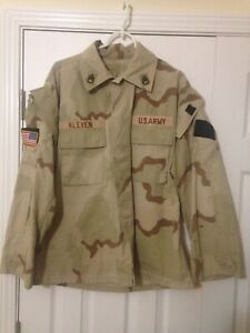 OIF 2003 Combat Raid Modified DCU Desert Top Jacket Named Patched Military Army