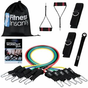 NEW Exercise Resistance Band Set Door Anchor Attachment Legs Ankle Straps