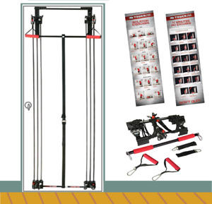Tower 200 Gym Fitness Free Straight Bar Strength Door