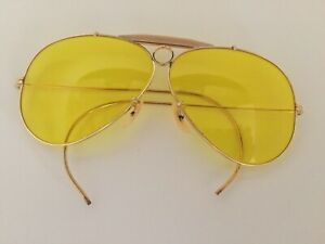 VTG BAUSCH & LOMB RAY-BAN Kalichrome Aviator Bullet Hole Shooting Glasses & Case