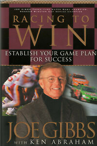 Racing to Win : Football Nascar Joe Gibbs Ken Abraham hardback Success Victory