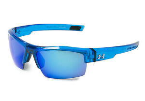 New $100 Under Armour UA Igniter Sport Sunglasses Blue Multiflection 8861