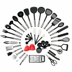 Cookware Kitchen 42 Parts Sets Kitchen of Steel Stainless and Nylon H