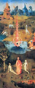 THE GARDEN OF DELIGHTS  THE CREATION BY BOSCH ARTIST PAINTING OIL CANVAS REPRO
