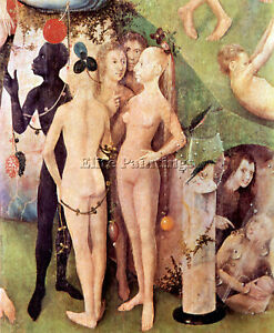 THE GARDEN OF DELIGHTS DETAIL 15 BY BOSCH ARTIST PAINTING OIL CANVAS REPRO DECO