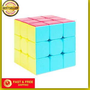 Speed Rubix Cube Smooth Magic Puzzle Rubic Stickerless Rubiks Gift Toy Play