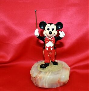 1993 Disney Mickey Mouse Band Leader Conductor Figurine By Ron Lee # 16252750