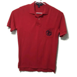 Polo Sport Ralph Lauren Mens Adult Large Red Polo Shirt Big P Pocket SS Cotton