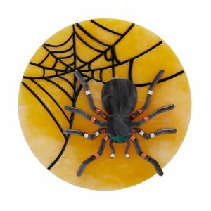 ERSTWILDER ITSY BITSY SPIDER OUT OF THE SHADOWS HALLOWEEN BROOCH! NEW!