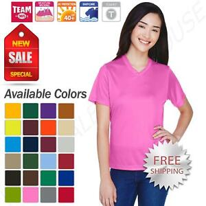 Team 365 Womens Dri-Fit Performance Gym Workout UV Protection T-Shirt M-TT11W
