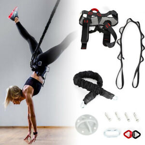 Yoga Bungee Gravity Resistance Band Pilates Pull Rope Home Gym 100kg US STOCK!