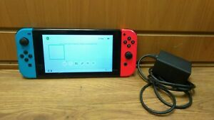 Nintendo Switch 32GB Console HAC-001 with Neon Red Blue Joy-Con