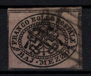 P005085 ROMAN STATE STAMPS ITALY – SASSONE # 1A USED 250 E