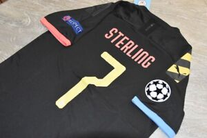 MANCHESTER CITY STERLING CHAMPIONS LEAGUE AWAY jersey SIZE S M L or XL