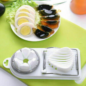 2 in 1 Stainless Steel Boiled Egg Slicer Cutter Chopper Kitchen Tools Fruit Food