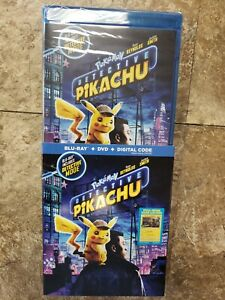 Pokemon - Detective Pikachu (Blu-ray, DVD, digital code & slipcover) NEW, sealed