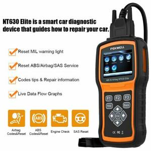Foxwell Scanner Auto OBD2 Code Reader Diagnostic Tool ABS Airbag SRS SAS Reset