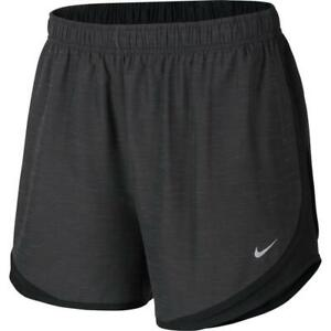 Womens NIKE Tempo shorts PLUS Size 3x 3xl xxxl  running heatherized  BLACK gray