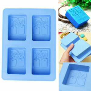 4cavity Rectangle Tree Soap Mold Cake Mold Silicone Resin Mould Chocolate Molds