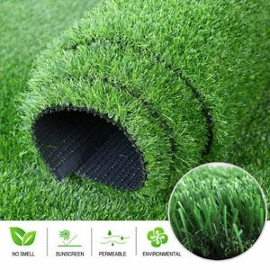Green Artificial Fake Synthetic Grass Rug Garden Landscape Lawn Carpet Mat Turf
