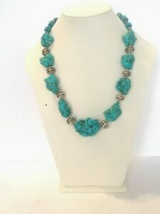 Aegean Blue Turquoise Necklace is a gorgeous chunky necklace & Gift For Her