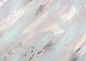 Kaleidoscope–Vision Foil Pastel; Foil Work; Unglazed Plain Weave Cotton Fabric