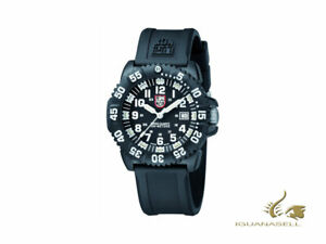 Luminox Navy Seal Colormark Quartz Watch - BlackWhite - SiliconeRubber strap