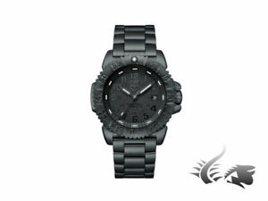 Luminox Navy Seal Steel Colormark Quartz Watch - Black - Stainless steel strap