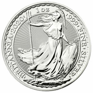 2020 Great Britain Silver Britannia 1 oz Silver £2 Coin GEM BU Delayed SKU59528