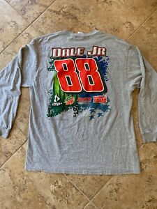 Vtg Chase Dale Earnhardt Jr 88 Long Sleeve Tee Shirt Size XL 2007 Gray AMP