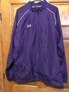 Purple Under Armour Mens Track Jacket Loose Fit Size XL $29.99