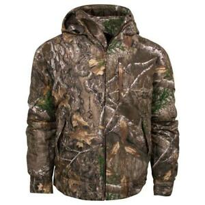 King's Camo Classic Cotton Insulated Hooded Ripstop Jacket Realtree KCB125-RE