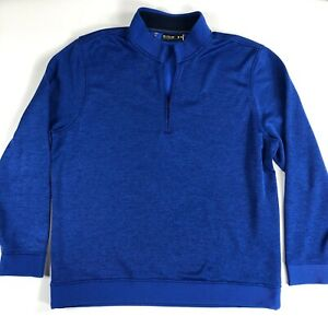 Under Armour 12 Zip Loose Fit Blue Pullover Sweatshirt 2XL
