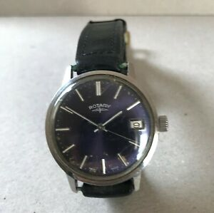 Men's Vintage Rotary 17 jewel stainless steel wrist watch
