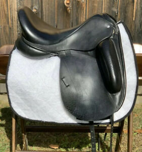 "18"" CUSTOM SADDLERY Icon Flight Buffalo Leather Dressage Saddle Used Very Good"