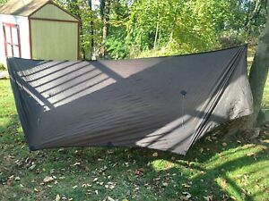 Hammock Gear Journey Sil-Poly Tarp with doors 11 ft Dark Olive Green