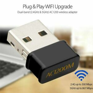 Wireless Lan USB PC WiFi Adapter Network 802.11AC 1200Mbps Dual Band 2.4G  5G